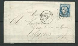 FRANCE: L., N°60C (t.III), Obl. Evreux 14-11-75, GC 1454, TB - Marcofilie (Brieven)