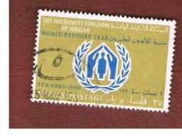 GIORDANIA (JORDAN) -   SG 498  - 1960 WORLD REFUGEE YEAR    - USED ° - Giordania