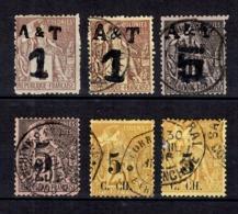 Annam Et Tonkin Et Cochinchine Six Timbres Anciens 1886/1888. Bonnes Valeurs. B/TB. A Saisir! - Annam Und Tonkin (1892)