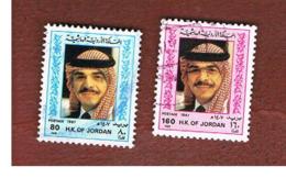 GIORDANIA (JORDAN) -   SG 1521.1522  - 1987 KING HUSSEIN   - USED ° - Giordania