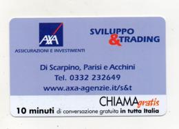 """Scheda Telefonica """" Chiama Gratis """"  Sviluppo & Trading - 10 Minuti - Nuova - Scadenza 15.3.2003 - (FDC17563) - Italien"""