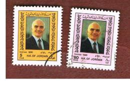 GIORDANIA (JORDAN) -   SG 1616.1618  - 1990  KING HUSSEIN   - USED ° - Jordanie