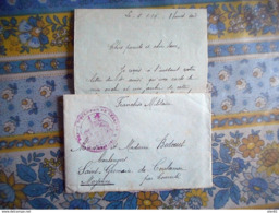 LETTRE AVEC CORRESPONDANCE 1916 DEPOT DES ECLOPES DE SEZANNE MARNE Pour ST GERMAIN DE COULAMER MAYENNE - Poststempel (Briefe)