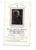 Souvenir De Décès Notre Dame De Paris Dr Abbé Ségaux - Devotion Images
