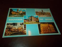 B739   Mons Belgio Souvenir Viaggiata Pieghina Angolo - Belgio