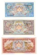 Bhutan Lot Set 3 X 1986 Banknotes UNC .CV. - Bhutan