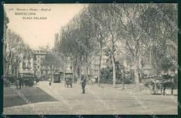 Spain Catalogna Barcellona Plaza Palacio Tramway Cartolina KB7877 - Barcelona