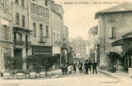 BOURG DE PEAGE - Rue De L'Hôtel De Ville Soldat écrit à Castelsagrat - Autres Communes