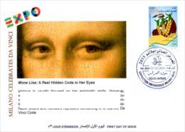 ALGERIA - 2014 FDC World Expo Milan 2015 Celebrates Da Vinci De Vinci Italia Italy Mona Lisa Joconde Gioconda - 2015 – Milan (Italy)