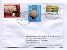 "ARGENTINA ENVELOPE CIRCULEE A ""ASOCIACION ARGENTINA AMIGOS DE LA ASTROLOGIA"", ANNEE 2019. MIXED STAMPS -LILHU - Argentine"