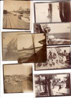 8 Photos Originales De Port Saïd Et Djibouti 3 Scans - Afrique