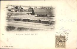 Cp Philippeville Skikda Algerien, Le Port Et Les Docks, E. Cauvin Yvosl, Bahnstrecke, Personenzug - Illustratori & Fotografie