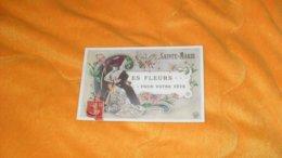 CARTE POSTALE ANCIENNE CIRCULEE DE 1907.../ SAINTE MARIE LES FLEURS POUR VOTRE FETE...CACHET + TIMBRE - Autres