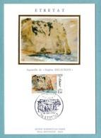 Carte Maximum 1987 - Etretat - Vue D'Etretat  D'après Eugène Delacroix - YT 2463 - 76 Etretat - 1980-89