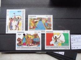 Rwanda 1360/63 Serie Neuve ** ( Revolution ) - 1980-89: Neufs