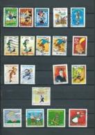 597 TP - FRANCE - TIMBRES FÊTE DU TIMBRE + ANNIVERSAIRE - TIMBRES BANDES DESSINÉES - 19 TP OBLITÉRÉS - Comics