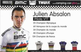 ~  JP  ~  JULIEN  ABSALON     ~  Champoin Du Monde VTT    ~ - Postcards