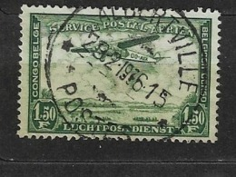 CONGO BELGA 1934 Airmail - Plane Over Landscape Focker F.VIIb/3m Over Congo  USED - 1923-44: Usados