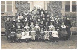 BELGIQUE . CPA  PHOTO  CLASSE Des FILLES 1908 . - Belgique