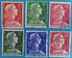France 1955 : Marianne De Muller N° 1009A à 1011C Oblitéré - France