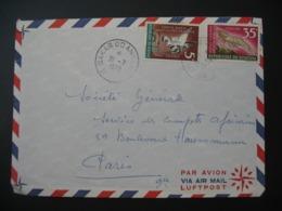 Lettre  Thème Oiseaux  Crevette Rose  1970   Sénégal  Pour La Sté Générale En France Bd Haussmann Paris - Senegal (1960-...)