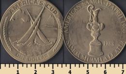 American Samoa 1 Dollar 1988 - Samoa Americana