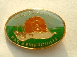 PIN'S ESCARGOT - COQUILLAGE - AVEC CAGOUILLE ... PAS D'EMBROUILLE - Animaux