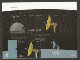 """AZORES - AÇORES  - EUROPA 2009  - TEMA  """"ASTRONOMIA"""" -  SERIE + HOJITA BLOQUE . C/u.  - DENTADAS - 2009"""