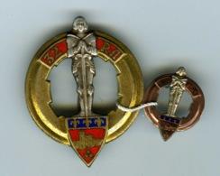 Insigne & Epinglette Militaire.32 Em Régiment D'ARTILLERIE - Army