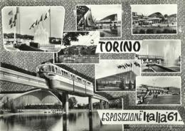 "5576 ""TORINO-ESPOSIZIONE ITALIA 61""8 VEDUTE- CART. POS.  NON SPED. - Exhibitions"