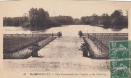 Cp , 78 , RAMBOUILLET , Le Château , Vue D'ensemble Des Canaux Et Du Parterre - Rambouillet (Château)