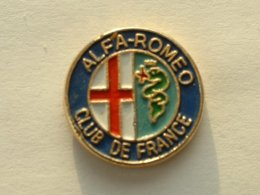 PIN'S ALFA ROMEO CLUB DE FRANCE - Alfa Romeo