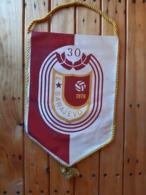 Vintage FK SARAJEVO Flag Pennant Bosnia Football Soccer - Apparel, Souvenirs & Other