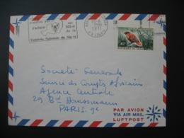 Lettre  Thème Animaux Oiseaux   Niger  1971  Pour La Sté Générale En France Bd Haussmann Paris - Niger (1960-...)