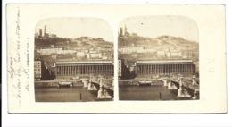 Photo Stéréoscopique - Lyon - Palais De Justice Et Coteau De Fourrières. - Stereoscopic