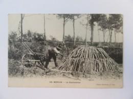 En Morvan - Le Charbonnier - Carte Animée, Circulée Le 11 Juillet 1917 - Artisanat