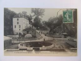 Evaux-Les-Bains (Creuse) - Sources De L'Etablissement Thermal - Carte Animée, Circulée En 1911 - Evaux Les Bains