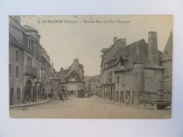 Aubusson (Creuse) N°2 - Grande Rue Et Place Espagne - Carte Animée, Circulée En 1923 - Aubusson