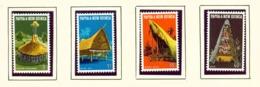 PAPUA NEW GUINEA  -  1971 Native Houses Set Unmounted/Never Hinged Mint - Papua New Guinea