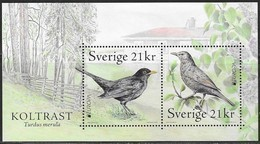 SWEDEN, 2019, MNH, BIRDS, EUROPA 2019,   SHEETLET OF 2v - 2019