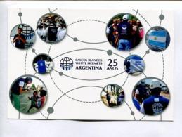 25 AÑOS CASCOS BLANCOS, WHITE HELMETS. ARGENTINA 2019 FDC ENTIER ENTERO -LILHU - Entiers Postaux