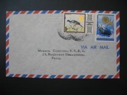 Lettre  Thème Animaux Oiseaux Nature Mer Palmier Trinidad Et Tobago  Pour La Sté Générale En France Bd Haussmann Paris - Trinité & Tobago (1962-...)