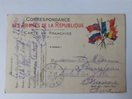 Correspondance Des Armées De La République 22-10-1914 - Marcophilie (Lettres)
