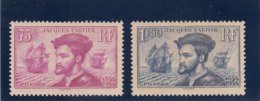 France - 1934 - N°YT 296/97** Jacques Cartier - Cote 300€ - Nuovi