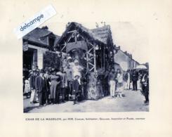 POUANCE  (49)   Cavalcade - Char De La MADELON -  Enseigne Fleuriot - Loge à Pied Et Cheval... 1921 - Vecchi Documenti