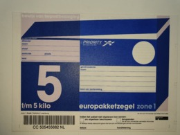 Netherlands Europakketzegel Upto 5 Kg, Not Used  Zone 1  Euro Pakketzegel - Ganzsachen