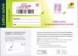 LA LETTRE SUIVIE (LS 2) Type Ciappa, 2ème Tirage 2015. Fond De L'adresse En Blanc.Seule Proposition Sur Delcampe. - Frankreich