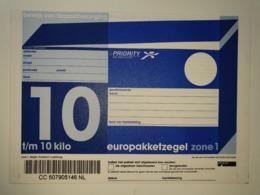 Netherlands Europakketzegel Upto 10 Kg, Not Used  Zone 1  Euro Pakketzegel - Ganzsachen