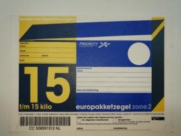 Netherlands Europakketzegel Upto 15 Kg, Not Used  Zone 2  Euro Pakketzegel - Ganzsachen