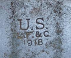 Quart De Gourde US Daté 1918 Equipement Uniformes Autres Non Classés - 1914-18